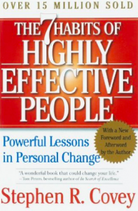 The 7 habits of highly effective people by Stephen R. Covey book cover
