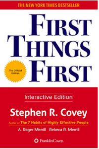 First things first by Stephen R Covey book cover